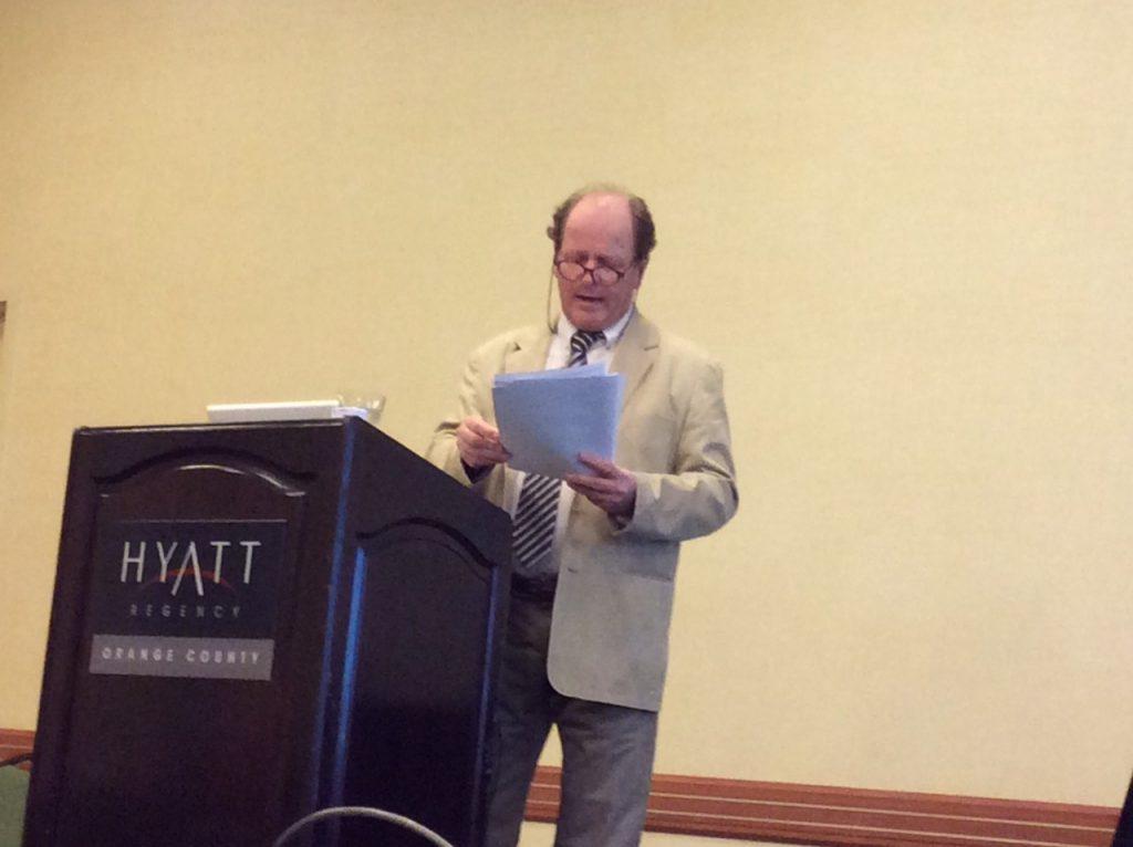 Gérald Brassine lors de la Milton H. Erickson Foundation Conference - Los Angeles