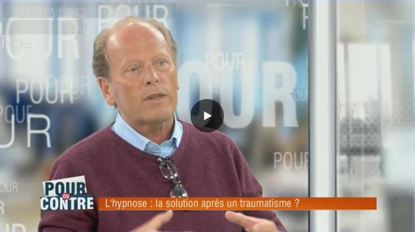 Gérald Brassine à l'émission Pour ou Contre sur RTLTVI : L'hypnose: la solution après un traumatisme ?