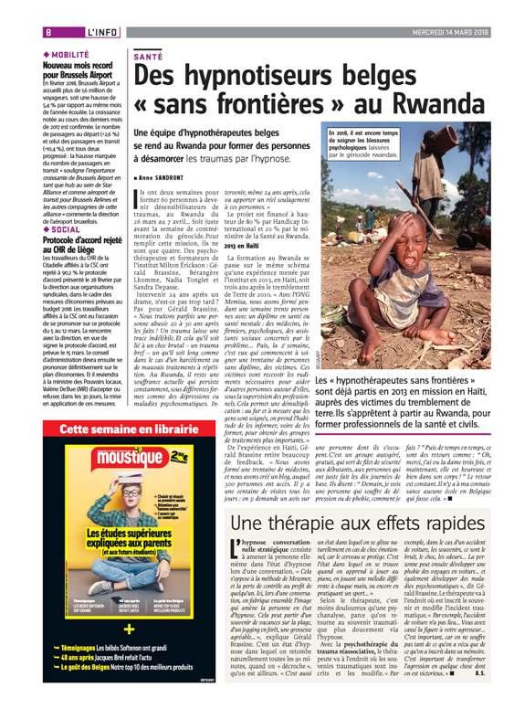 Hypnotiseurs belges sans frontières au Rwanda
