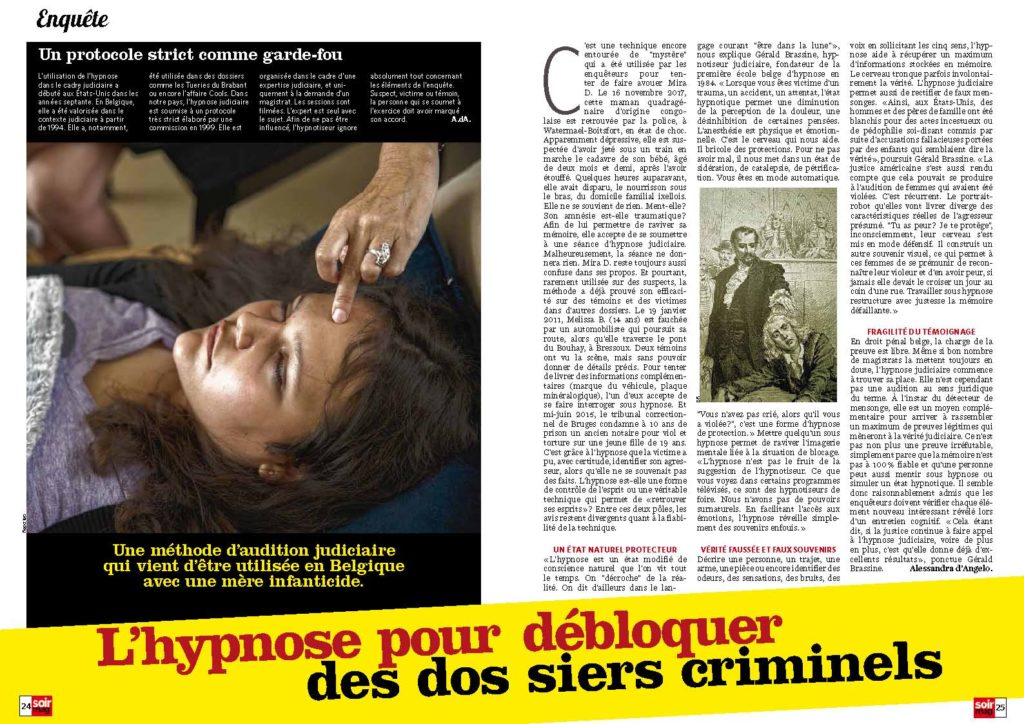 L'hypnose pour débloquer des dossiers criminels