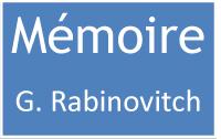 Mémoire G. Rabinovitch